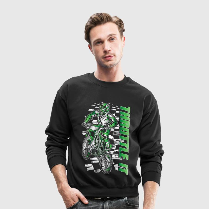 Motocross Throttle It Kawasaki - Crewneck Sweatshirt