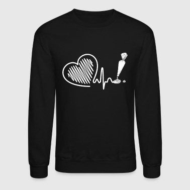Cake Cake Decorator Heartbeat Shirt - Crewneck Sweatshirt
