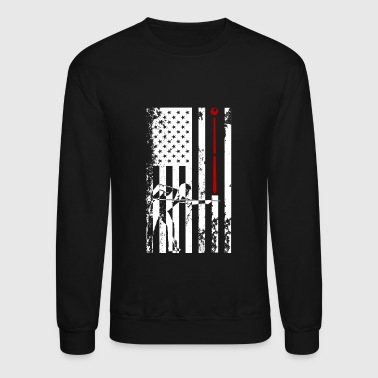 Pool Billiards Flag Shirt - Crewneck Sweatshirt