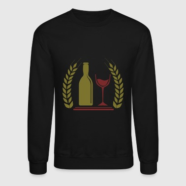 Wine red | Red wine bottle glass - Crewneck Sweatshirt