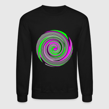 Psychedelic Pink and green swirl pattern - Crewneck Sweatshirt