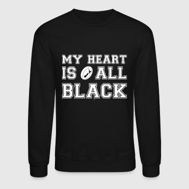 New Zealand My Heart Is All Black - Crewneck Sweatshirt