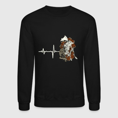 gift heartbeat native american - Crewneck Sweatshirt
