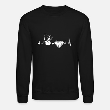 Border Collie Border Collie Heartbeat Shirt - Crewneck Sweatshirt