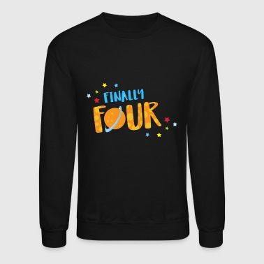 Birthday - Finally Four Year Old Boy Birthday Sh - Crewneck Sweatshirt