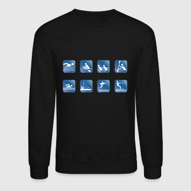 Water Skiing water skiing water ski wasser2 - Crewneck Sweatshirt