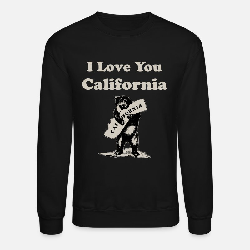 California Life Hoodies & Sweatshirts - I Love You California - Unisex Crewneck Sweatshirt black