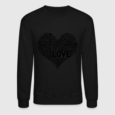 HEART I HEART LOVE - Crewneck Sweatshirt