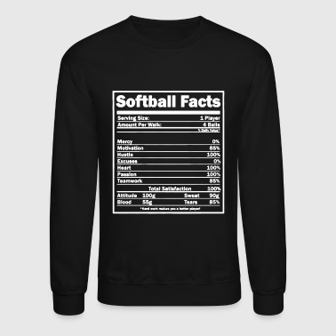 Softball Softball Facts Shirt - Crewneck Sweatshirt