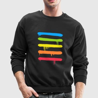 Trendy Cool Graffiti Tag Lines - Crewneck Sweatshirt