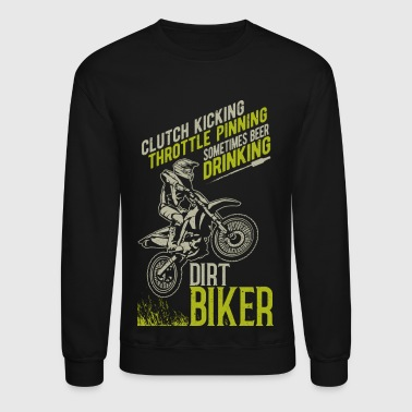 Beer Throttle Dirt Biker - Crewneck Sweatshirt