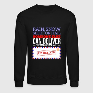 Retirement Post Office Retired Postal Worker Gift - Crewneck Sweatshirt