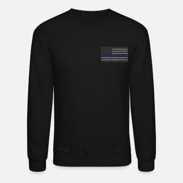 Thin Pocket Thin Blue line Flag - Crewneck Sweatshirt