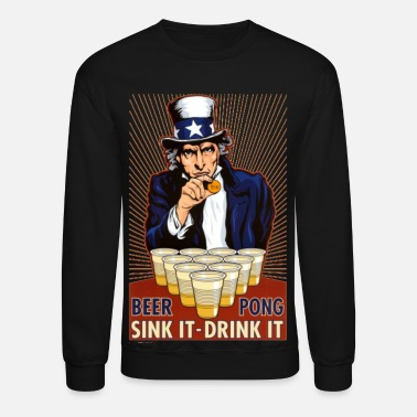 Pong Uncle Sam Beer Pong - Unisex Crewneck Sweatshirt