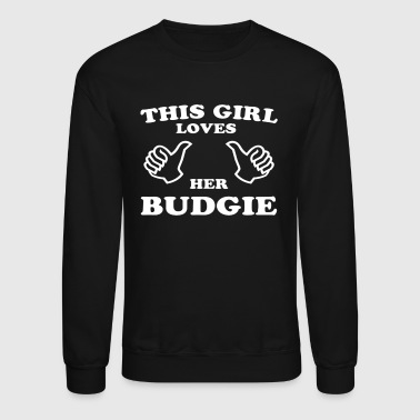 This Girl Loves Her Budgie - Crewneck Sweatshirt