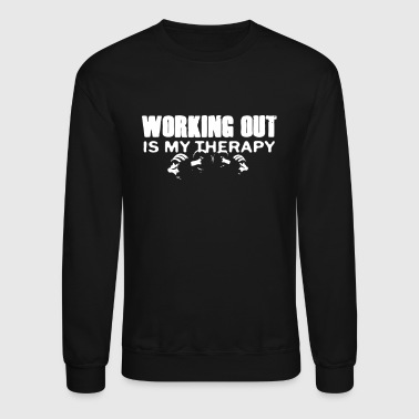 WORKING OUT IS MY THERAPY - Crewneck Sweatshirt