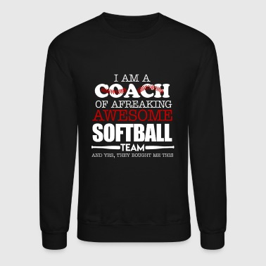 Softball Softball Coach Shirts - Crewneck Sweatshirt