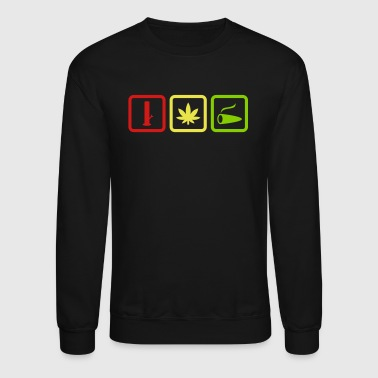 water pipe hemp leaf joint spliff - Crewneck Sweatshirt