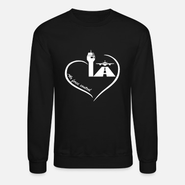 Traffic Air Traffic Control Heart - Unisex Crewneck Sweatshirt