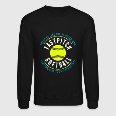 I Love Softball Softball - Fastpitch Softball - Crewneck Sweatshirt