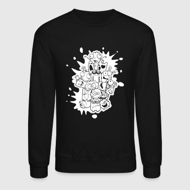 Happy Faces - Crewneck Sweatshirt