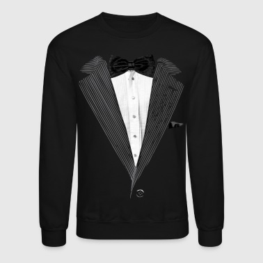 Realistic Tuxedo bow tie and sear sucker - Crewneck Sweatshirt