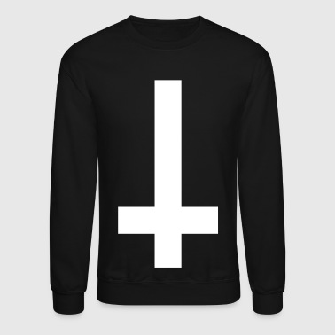 Satan cross upside down - Crewneck Sweatshirt