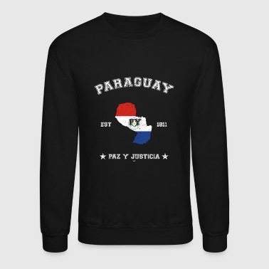 Paraguay vintage map with date of founding - Crewneck Sweatshirt