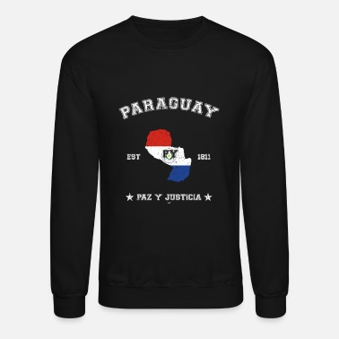 Paraguay Paraguay vintage map with date of founding - Crewneck Sweatshirt