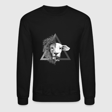 Christian,Bible Quote,Lion and Lamb - Crewneck Sweatshirt