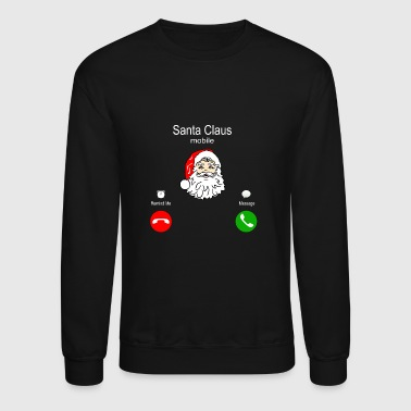 Santa Claus mobile phone - Crewneck Sweatshirt