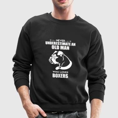 Old Man Who Loves Boxers - Crewneck Sweatshirt
