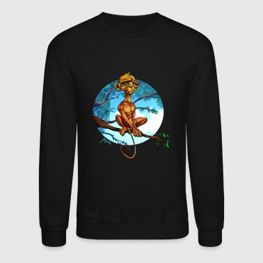 Depressed Monkey - Crewneck Sweatshirt