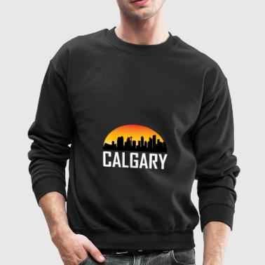 Sunset Skyline Silhouette of Calgary AB - Crewneck Sweatshirt