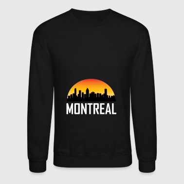 Sunset Skyline Silhouette of Montreal QC - Crewneck Sweatshirt