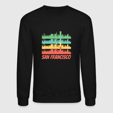 Retro San Francisco CA Skyline Pop Art - Crewneck Sweatshirt