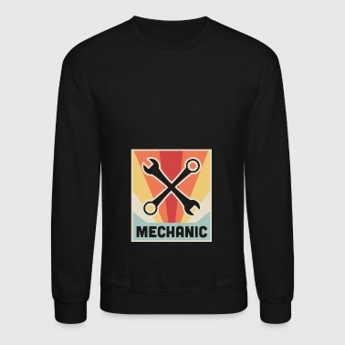 Retro Style MECHANIC Wrenches - Crewneck Sweatshirt