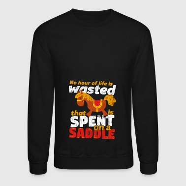 Spend on a Saddle - Crewneck Sweatshirt