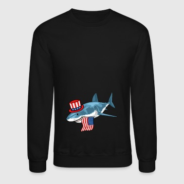 Shark 4th Of July - Crewneck Sweatshirt