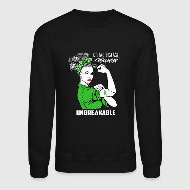 Celiac Celiac disease Warrior Unbreakable Awareness - Crewneck Sweatshirt