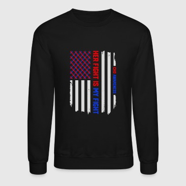 USA Flag Congenital Heart Disease CHD Awareness - Crewneck Sweatshirt