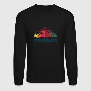 Aspen Retro Colorado Long Sleeve Design for Men Women and Kids - Crewneck Sweatshirt