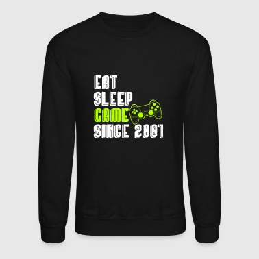 18th birthday videogames present gift - Crewneck Sweatshirt