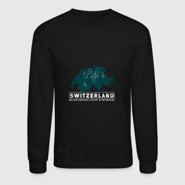 Switzerland Switzerland Map - Crewneck Sweatshirt