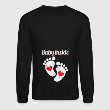 Baby inside the baby bump - Crewneck Sweatshirt