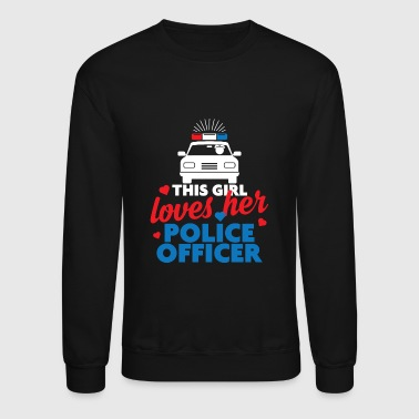 Police Officer - This girl Police Officer - Crewneck Sweatshirt