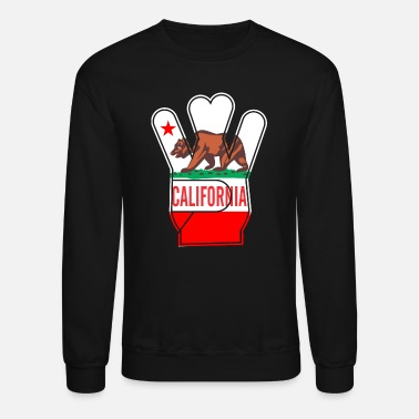 Bear California Hand bear Star - Unisex Crewneck Sweatshirt