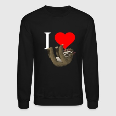 Funny Sloth Shirt I heart Sloth - Crewneck Sweatshirt