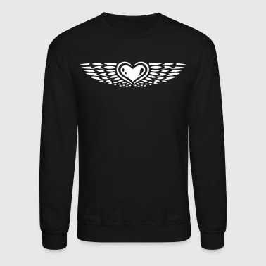 Heart with wings. Winged heart. - Crewneck Sweatshirt