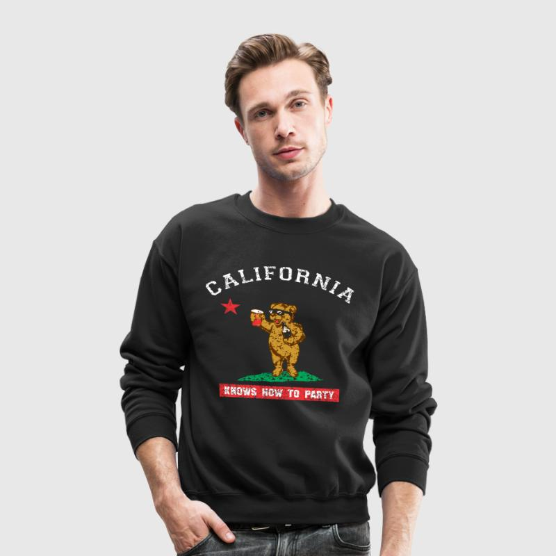 Young California Knows To Party - Crewneck Sweatshirt